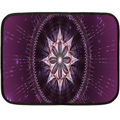 Flower Twirl Star Space Purple Fleece Blanket (mini)