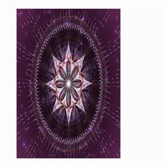 Flower Twirl Star Space Purple Small Garden Flag (two Sides)