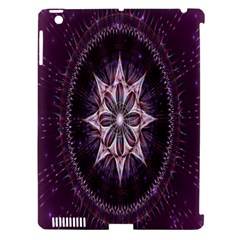 Flower Twirl Star Space Purple Apple Ipad 3/4 Hardshell Case (compatible With Smart Cover)
