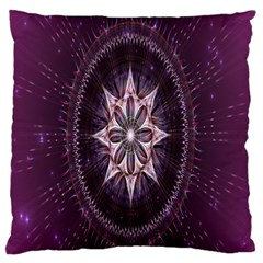 Flower Twirl Star Space Purple Large Flano Cushion Case (one Side)