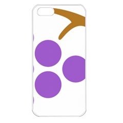 Fruit Grape Purple Apple Iphone 5 Seamless Case (white)