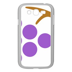 Fruit Grape Purple Samsung Galaxy Grand Duos I9082 Case (white)