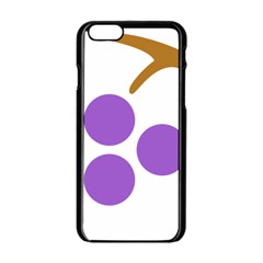 Fruit Grape Purple Apple Iphone 6/6s Black Enamel Case