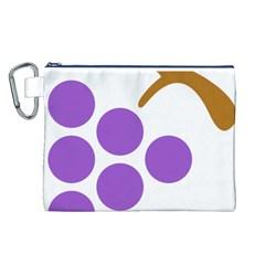 Fruit Grape Purple Canvas Cosmetic Bag (l)