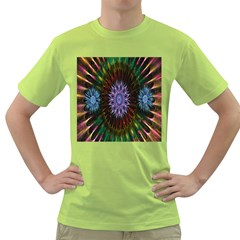 Flower Stigma Colorful Rainbow Animation Gold Space Green T Shirt