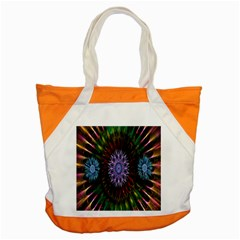 Flower Stigma Colorful Rainbow Animation Gold Space Accent Tote Bag