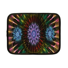 Flower Stigma Colorful Rainbow Animation Gold Space Netbook Case (small)