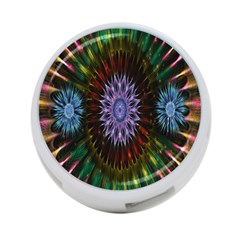 Flower Stigma Colorful Rainbow Animation Gold Space 4 Port Usb Hub (one Side)