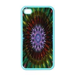Flower Stigma Colorful Rainbow Animation Gold Space Apple Iphone 4 Case (color)