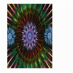 Flower Stigma Colorful Rainbow Animation Gold Space Large Garden Flag (two Sides)