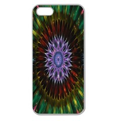 Flower Stigma Colorful Rainbow Animation Gold Space Apple Seamless Iphone 5 Case (clear)