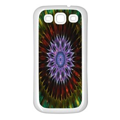 Flower Stigma Colorful Rainbow Animation Gold Space Samsung Galaxy S3 Back Case (white)