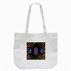 Flower Stigma Colorful Rainbow Animation Gold Space Tote Bag (white)