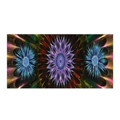 Flower Stigma Colorful Rainbow Animation Gold Space Satin Wrap