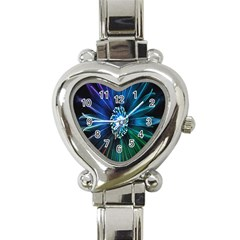 Flower Stigma Colorful Rainbow Animation Space Heart Italian Charm Watch