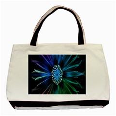 Flower Stigma Colorful Rainbow Animation Space Basic Tote Bag