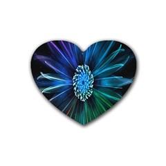 Flower Stigma Colorful Rainbow Animation Space Rubber Coaster (heart)