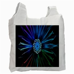 Flower Stigma Colorful Rainbow Animation Space Recycle Bag (two Side)