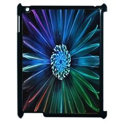 Flower Stigma Colorful Rainbow Animation Space Apple Ipad 2 Case (black)