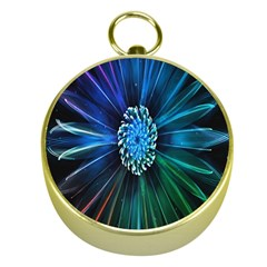 Flower Stigma Colorful Rainbow Animation Space Gold Compasses