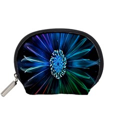 Flower Stigma Colorful Rainbow Animation Space Accessory Pouches (small)