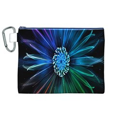 Flower Stigma Colorful Rainbow Animation Space Canvas Cosmetic Bag (xl)