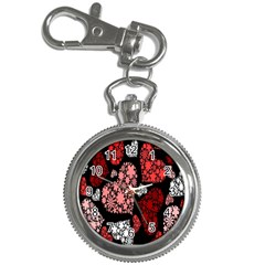 Floral Flower Heart Valentine Key Chain Watches