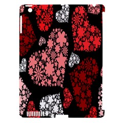 Floral Flower Heart Valentine Apple Ipad 3/4 Hardshell Case (compatible With Smart Cover)