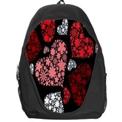 Floral Flower Heart Valentine Backpack Bag