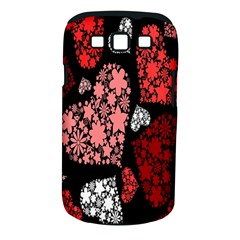 Floral Flower Heart Valentine Samsung Galaxy S Iii Classic Hardshell Case (pc+silicone)
