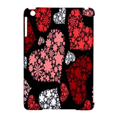 Floral Flower Heart Valentine Apple Ipad Mini Hardshell Case (compatible With Smart Cover)