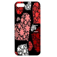 Floral Flower Heart Valentine Apple Iphone 5 Hardshell Case With Stand