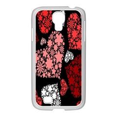 Floral Flower Heart Valentine Samsung Galaxy S4 I9500/ I9505 Case (white)