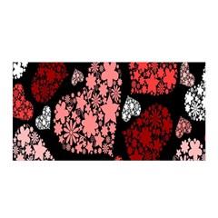 Floral Flower Heart Valentine Satin Wrap