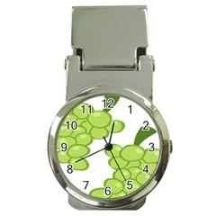 Fruit Green Grape Money Clip Watches