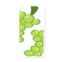 Fruit Green Grape Apple Iphone 4 Case (white)