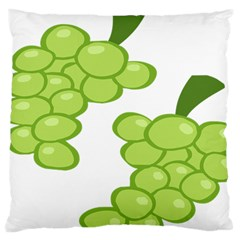 Fruit Green Grape Large Cushion Case (two Sides)