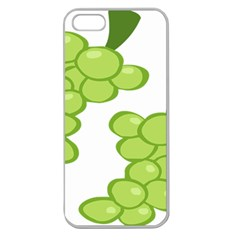 Fruit Green Grape Apple Seamless Iphone 5 Case (clear)