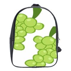 Fruit Green Grape School Bag (xl)