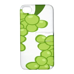 Fruit Green Grape Apple Iphone 4/4s Hardshell Case With Stand