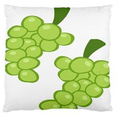 Fruit Green Grape Large Flano Cushion Case (one Side)