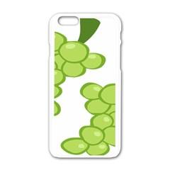 Fruit Green Grape Apple Iphone 6/6s White Enamel Case