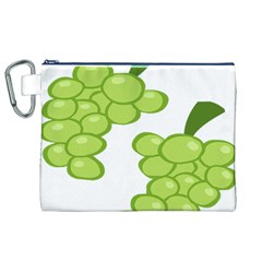 Fruit Green Grape Canvas Cosmetic Bag (xl)
