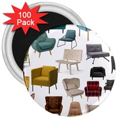 Furnitur Chair 3  Magnets (100 Pack)
