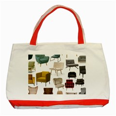 Furnitur Chair Classic Tote Bag (red)