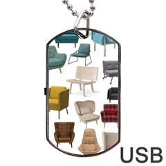 Furnitur Chair Dog Tag Usb Flash (two Sides)