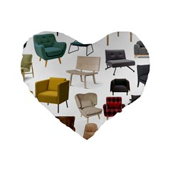 Furnitur Chair Standard 16  Premium Heart Shape Cushions