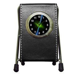 Gas Yellow Falling Into Black Hole Pen Holder Desk Clocks