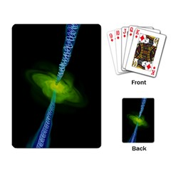 Gas Yellow Falling Into Black Hole Playing Card