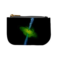Gas Yellow Falling Into Black Hole Mini Coin Purses